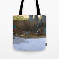 platypus Tote Bags featuring The Platypus by Thyra