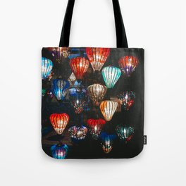 Lanterns in the Night Market, Hoi An, Vietnam 2 Tote Bag
