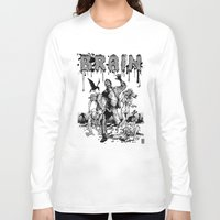 brain Long Sleeve T-shirts featuring Brain by Christian G. Marra