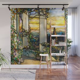 "Louis Comfort Tiffany ""Howell Hinds House Window"" Wall Mural"