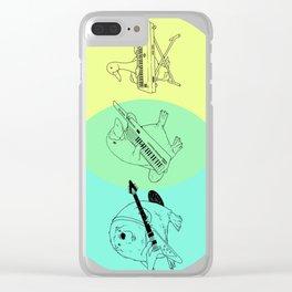 Keytar Platypus Venn Diagram Clear iPhone Case
