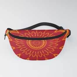 Summer Mandala Celebration in Vibrant Red & Yellow Fanny Pack