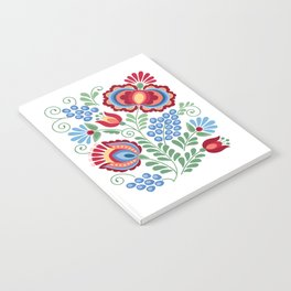 Moravian Folk Design Red Notebook