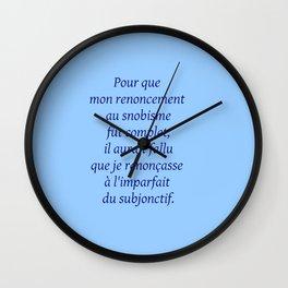 Imparfait du subjonctif 2 Wall Clock