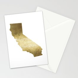 california gold foil state map  Stationery Cards