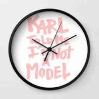 karl lagerfeld Wall Clocks featuring Karl told me... by Ludovic Jacqz
