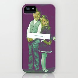 I need some space. iPhone Case