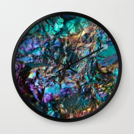 Turquoise Oil Slick Quartz Wall Clock
