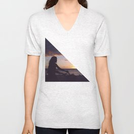 a bicycle rider Unisex V-Neck