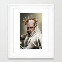 thranduil Framed Art Prints featuring Thranduil by GeminiBrain