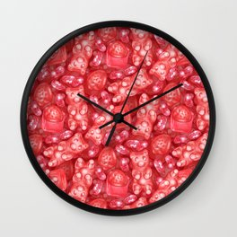 Red is My Favorite Flavor - delicious gummy bears, fruit chews, strawberries and jelly beans Wall Clock