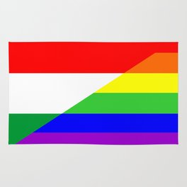 hungary gay people homosexual flag rainbow Rug