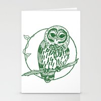 coasters Stationery Cards featuring Forest Lover's Owl by KimberlyVautrin