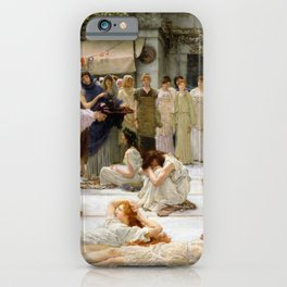 Lawrence Alma-Tadema - Women Of Amphissa - Digital Remastered Edition iPhone Case