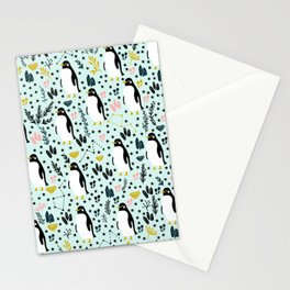 Cute Penguins Stationery Cards