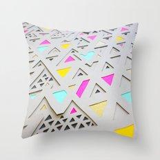 Geometric 2nd 3D Paperart Throw Pillow