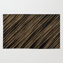 Black Leopard/Cheetah Print Rug