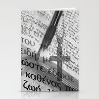 bible Stationery Cards featuring Multilingual Bible Study by Clayton Jones