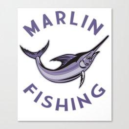 Marlin Swordfish Fishing Gift for Men Fisherman Gift Deep Sea Canvas Print