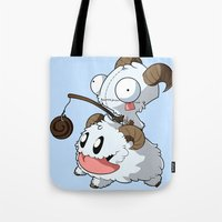 invader zim Tote Bags featuring Invader Poro by HelloTwinsies