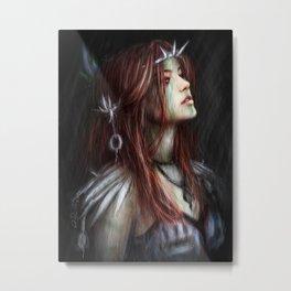 Silver Thorns Metal Print