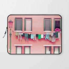 Laundry Venice Italy Travel Photography Laptop Sleeve