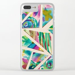 Watercolor Mosaic Clear iPhone Case