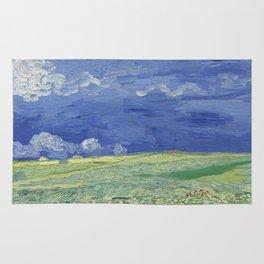 Wheatfield under Thunderclouds Rug