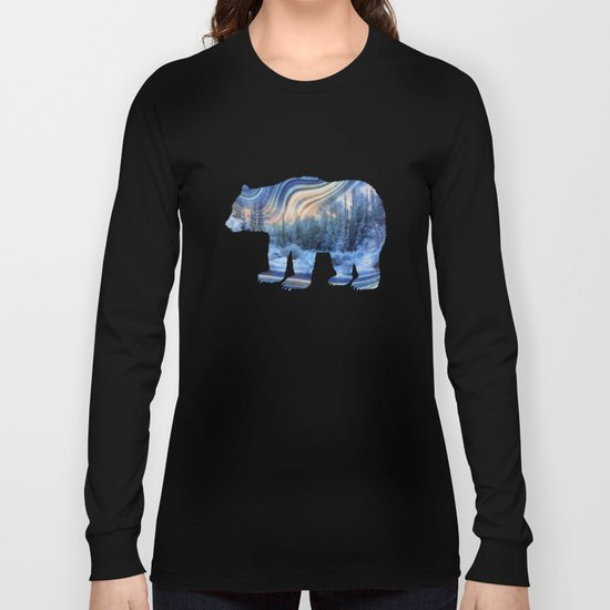 Surreal winter forest Long Sleeve T-shirt