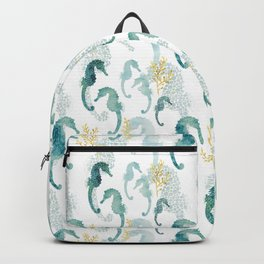 Pointillism Seahorse Backpack