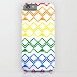 LGBT pattern iPhone Case