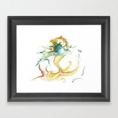 Fishing for inspiration Framed Art Print