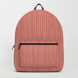 Abstract modern coral geometrical stripes Backpack