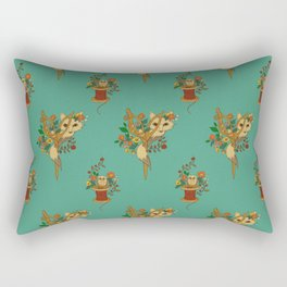 Fox and Scissors Rectangular Pillow