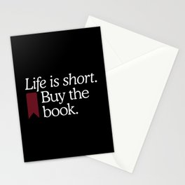 Life Is Short Buy The Book Stationery Cards