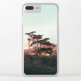 Setting Sun on the Trees Clear iPhone Case