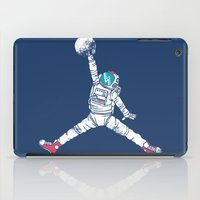 wolf iPad Cases featuring Space dunk by Steven Toang