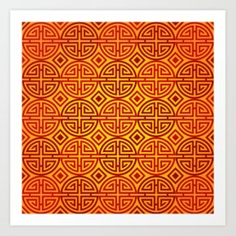 Chinese red gold 1 Art Print