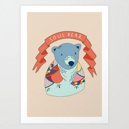 Soul Bear Art Print