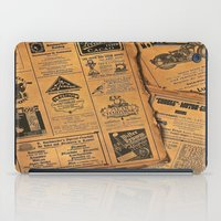 newspaper iPad Cases featuring old newspaper by Marianna Burk