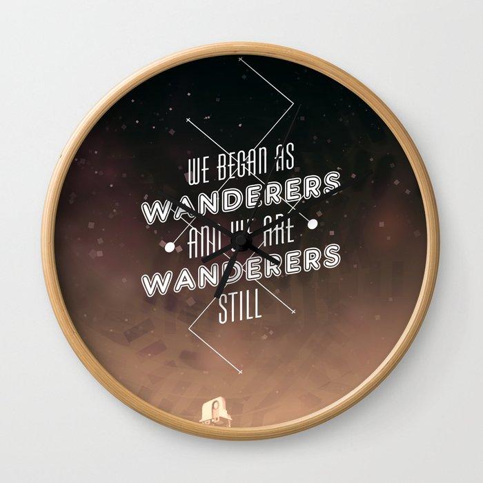 Wanderers - MSL/Curiosity Commemoration Print Wall Clock