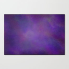Abstract Soft Watercolor Gradient Ombre Blend 14 Dark Purple and Light Purple Canvas Print