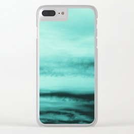 Mint-Green Ocean Vibes #1 #decor #art #society6 Clear iPhone Case