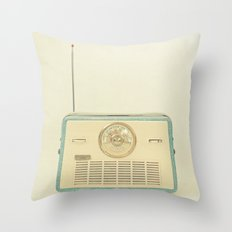 Radio Days Throw Pillow