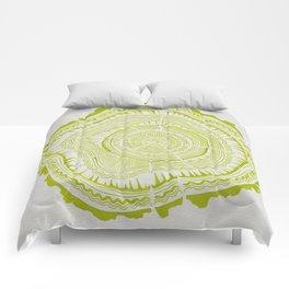 Lime Tree Rings Comforters
