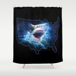 Shark Attack Shower Curtain