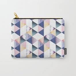 Watercolor geometric pastel colored seamless pattern Carry-All Pouch