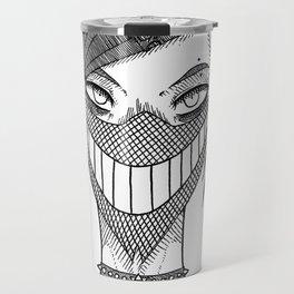 Smile mask Travel Mug