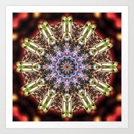 Blurry Cockatiel - Kaleidoscopic mandala Art Print
