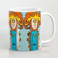 super hero Mugs featuring Joe Pansa Super Hero by Joe Pansa
